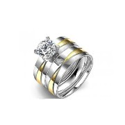 Non Fading Titanium Steel Double Ring For Women(Size-JP-14)