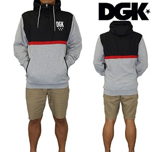 DGK ディージーケー スケボー CROSS OVER CUSTOM HYBRID HOODED FLEECE (M) [並行輸入品]