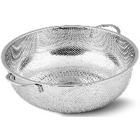 Stainless Steel Colander - Micro-Perforated Strainer - Strain Pasta, Noodles, Orzo, Vegetables,...