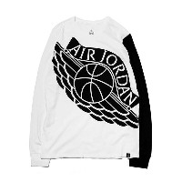 NIKE STRETCHED WINGS L/S TEE (ナイキ ジョーダン ストレッチド ウィングス L/S Tシャツ)WHITE【メンズ 長袖Tシャツ】17SP-I