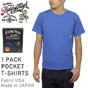 RIDING HIGH ライディングハイ STANDARD PACK COLOR POCKET T-SHIRTS [BLUE] メンズ Tシャツ パック カットソー ブルー 男性用 MADE IN...