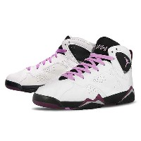 NIKE AIR JORDAN 7 RETRO GG(GS)White/Fuchsia Glow-Black-Mulberryナイキ エア ジョーダン 7 レトロ GG 白黒紫ピンク