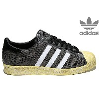 adidas Originals SUPERSTAR 80S 「SNAKE」 BLACK/WHITE DOWN/LEGACY G95846アディダス オリジナルス スーパースター 80's ブラック...