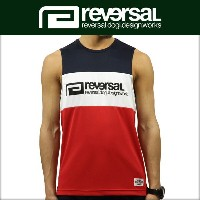 リバーサル REVERSAL 正規販売店 メンズ タンクトップ SWITCH COLOR MESH JERSEY SLEEVELESS rv17ss018b TRICOLORE