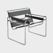 knoll/Wassily Chair ワシリーチェア/レザー:ブラック