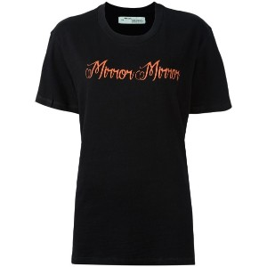 Off-White - Mirror Mirror Tシャツ - women - コットン - XXS