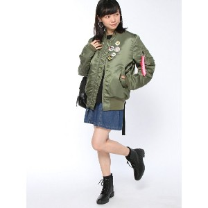 【SALE/35%OFF】X-girl X-girlxBURGER RECORDSxALPHA JACKET エックスガール コート/ジャケット【RBA_S】【RBA_E】【送料無料】