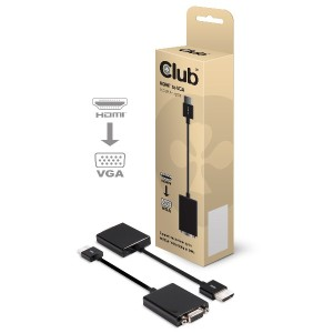 Club3D HDMI to VGA WUXGA ディスプレイ Active Adapter 変換アダプタ (CAC-1300)