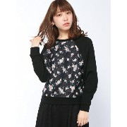 【SALE/10%OFF】BROWNY 【BROWNY】(L)花柄レーススウェット ウィゴー カットソー【RBA_S】【RBA_E】【送料無料】