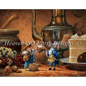 【DM便対応】Heaven And Earth Designs(HAED)クロスステッチ The Country and The City Mouse チャート Scott Gustafson...