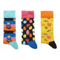 ハッピーソックス happy socks メンズ インナー ソックス【combed cotton-blend pack of three socks】Multi