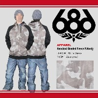 【即納】16-17 686/SIX EIGHT SIX (シックスエイトシックス) Knockout Bonded Fleece Pullover Hoody -Khaki Camo- 早期割引30...