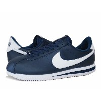 NIKE CORTEZ BASIC LEATHER ナイキ コルテッツ ベーシック レザーOBSIDIAN/WHITE/METALLIC SILVER
