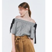 ROSSO Lirica Ginghamcheck offshoulder tops【アーバンリサーチ/URBAN RESEARCH Tシャツ・カットソー】