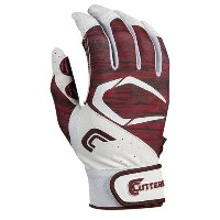 カッターズ メンズ 野球 グローブ 手袋【Cutters Power Control 2.0 Batting Gloves】White/Maroon