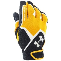 アンダーアーマー メンズ 野球 グローブ 手袋【Under Armour Clean Up VI Batting Gloves】Steeltown Gold/Black/White