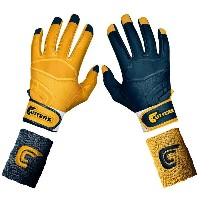 カッターズ メンズ 野球 グローブ 手袋【Cutters Prime Command Yin Yang Batting Gloves】Navy/Gold