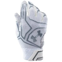 アンダーアーマー メンズ 野球 グローブ 手袋【Under Armour Yard Clutchfit Batting Gloves】White/White/Steel