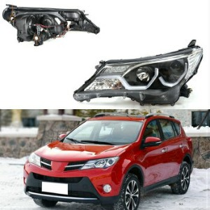 トヨタ RAV4 ヘッドライト For Toyota RAV-4 13-15 LED Lamp Pipe DRL+HID Xenon Headlights Assembly Retrofit...