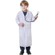Bristol Novelty Doctor Coat Medium. Children's Costumes Boys 134cm - White
