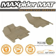 Dodge Grand Caravan フロアマット 08-15 Dodge Grand Caravan V6 Tan 3D Maxpider Floor Mat Classic Carpet R1...