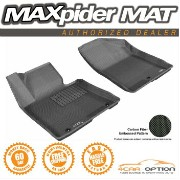 Hyundai Elantra フロアマット For 3D Maxpider 13-14 Hyundai Elantra GT 2Pcs Black Kagu Rubber Floor Mat R1...