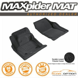 Ford Fusion フロアマット 3D Maxpider 13-15 Ford Fusion Black 2Pcs Classic Floor Mats Carpet 1St Row 3D...