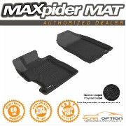 Honda Civic フロアマット 3D Maxpider 06-11 Honda Civic Coupe Sedan L4 2Pcs Black Classic Floor Mat R1 Row...