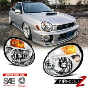 スバル インプレッサ ヘッドライト Fit [BUG EYE GD] 2002 2003 Subaru WRX Impreza STI Factory Headlights Headlamps...