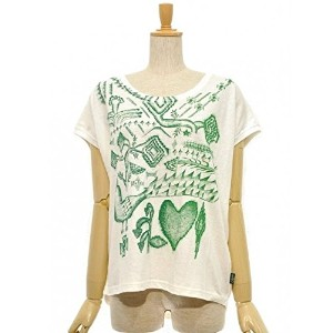 "GOHEMP(ゴーヘンプ) 】""刺繍の話"" by BeBe SUNNY ROUND TEE Color:NATURAL Size:XS (0)"
