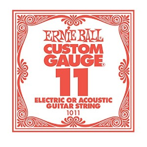 ERNiE BALL / Electric or Acoustic Steel Plain 1011 .011 バラ弦