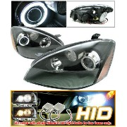 Nissan Altima ヘッドライト Fit Xenon 02-04 Nissan Altima CCFL Halo Black Projector Headlights キセノン02...