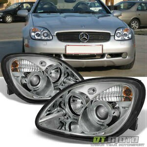 ベンツ ヘッドライト 1998-2004 Mercedes Benz R170 SLK230 SLK200 SLK320 LED Halo Projector Headlights 1998...