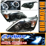 Honda CR-V ヘッドライト 2 Set HID 07 + Honda CR-V CCFL Halo Projector Headlights 2セットは07 +ホンダCR-V...