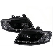 アウディ ヘッドライト For Audi A4/S4 2001-2005 B6 8H 2D Cabriolet LED Projector Headlight R8 Black LHD アウディA4...