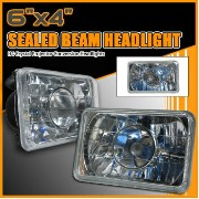 Chevrolet Blazer ヘッドライト Sealed Beam Projector Headlights 6 InchX4 Inch H4 + Bi-Xenon HID シールドビームプロジェ...