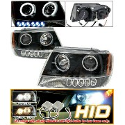 Jeep Grand Cherokee ヘッドライト Xenon 99-04 Grand Cherokee Halo Projector Headlight BLK キセノン99から04グランドチェロ...