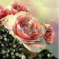 【DM便対応】Heaven And Earth Designs(HAED)クロスステッチ Bed of Roses チャート Tom Cross 刺しゅう アメリカ 図案 妖精 フェアリー 全面刺し