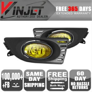 Acura RSX フォグライト 05-07 Acura RSX OE Fog Lights Lamps Yellow Wiring Kit Included 含ま05-07アキュラRSX...