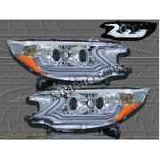 ホンダ CR-V ヘッドライト 2012 2013 Honda CRV CR-V Chrome Clear Projector Headlights w/ Amber Reflectors 2012...