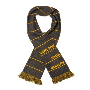 【Out of Print】 Library Card Scarf (Grey)