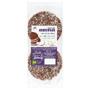 Amisa Organic - Lactose Free - Rice Milk Chocolate Coconut Rice Cakes - 105g