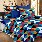 120 TC 100% Cotton Yellow 1 Double Bedsheet With 2 Pillow Cover