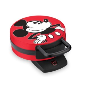 Disney Mickey Mouse Non-Stick Electric Waffle Maker, Red and Black [並行輸入品]
