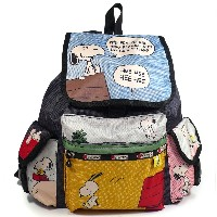 LeSportsac レスポートサック SNOOPY スヌーピー Peanuts x LeSportsac コラボ VOYAGER BACKPACK バックパック リュック 7839 P697 限定...