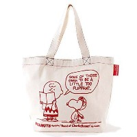B4刺繍トートBAG(SNOOPY and Charlie Brown)