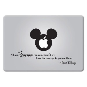 MacBook 対応 アートステッカー ウォルトディズニー 勇気を持って追えば全ての夢は叶う Quote All our Dreams... (11, 12, 13 or 15 インチ...