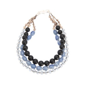 【Theory】Kong qi Color Stone Necklace スモーキークォーツやめのうを組み合わせた三連ネックレス。 その他 大人 セオリー