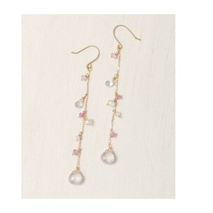 UR colette 天然石ロングピアス【アーバンリサーチ/URBAN RESEARCH レディス ピアス PINK ルミネ LUMINE】