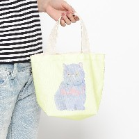 【THE EMPORIUM (ジエンポリアム)】andsome SUPER NICE FRIENDS ミニトートバッグレディース バッグ|トートバッグ イエロー系